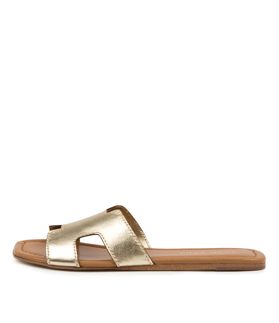 Buy Top End Leamon Pale Gold Flat Sandals online with free shipping