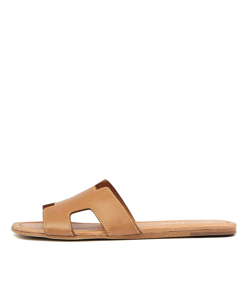 Buy Top End Leamon Tan Flat Sandals online with free shipping