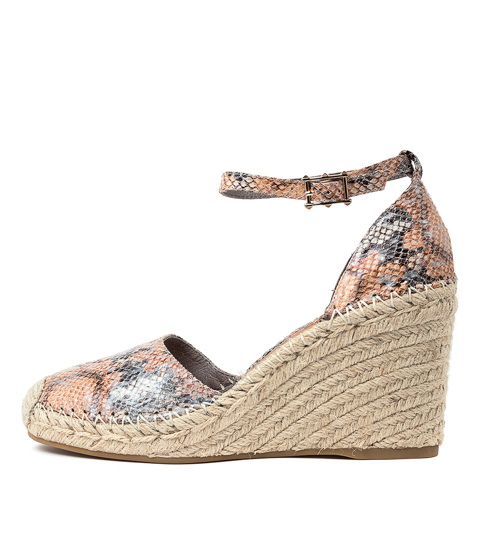 Buy Top End Madden Denim & Tan High Heels online with free shipping
