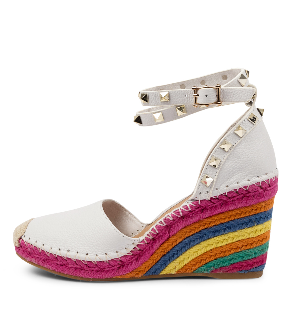 Buy Top End Mikkel White Multi High Heels online with free shipping