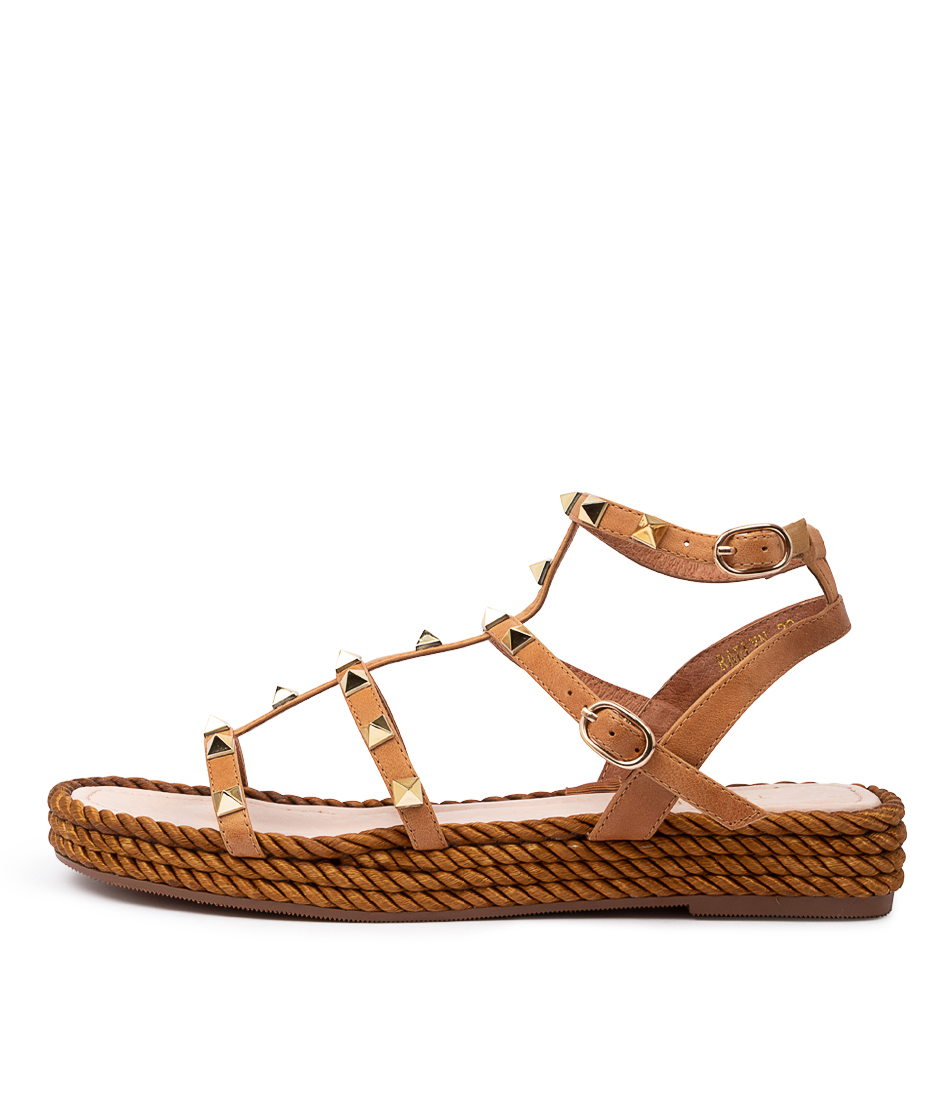 Buy Top End Raelyn Tan Flat Sandals online with free shipping
