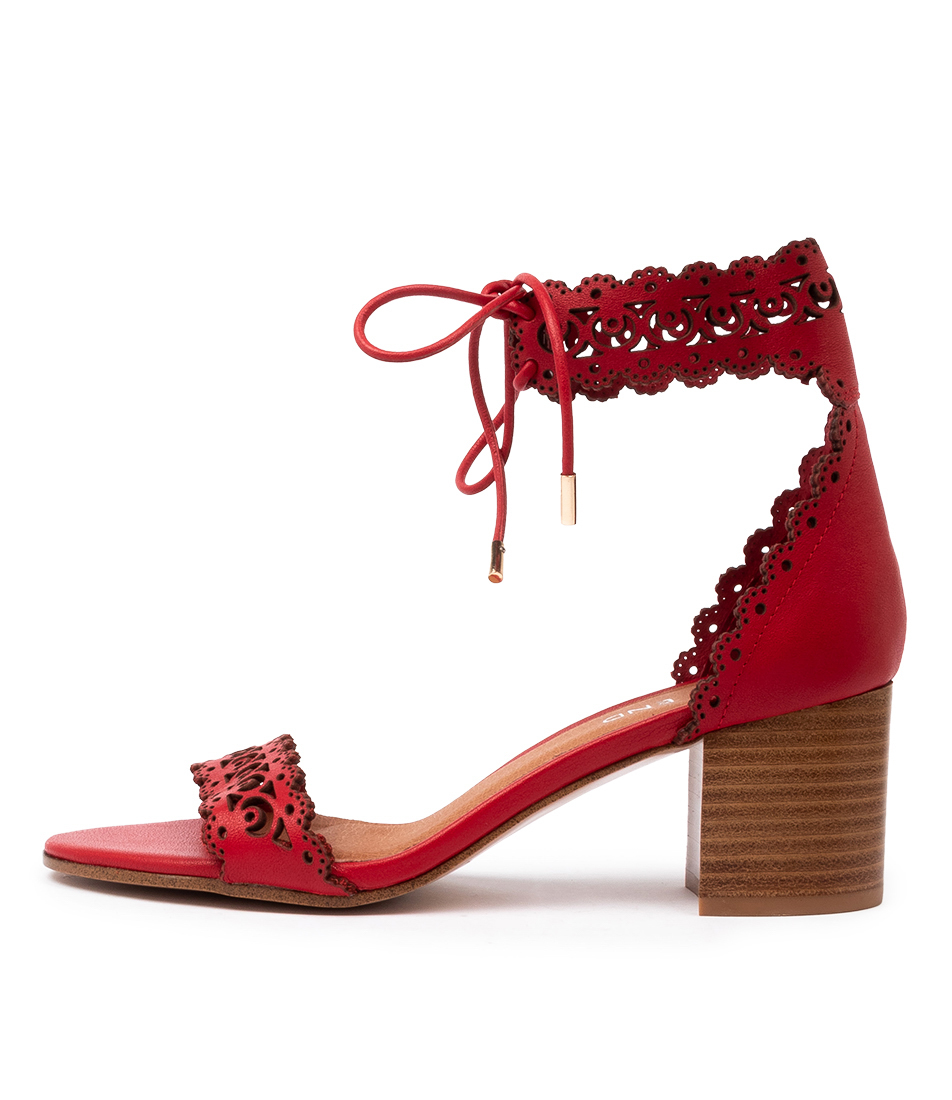 Buy Top End Rochelle Red Heeled Sandals online with free shipping