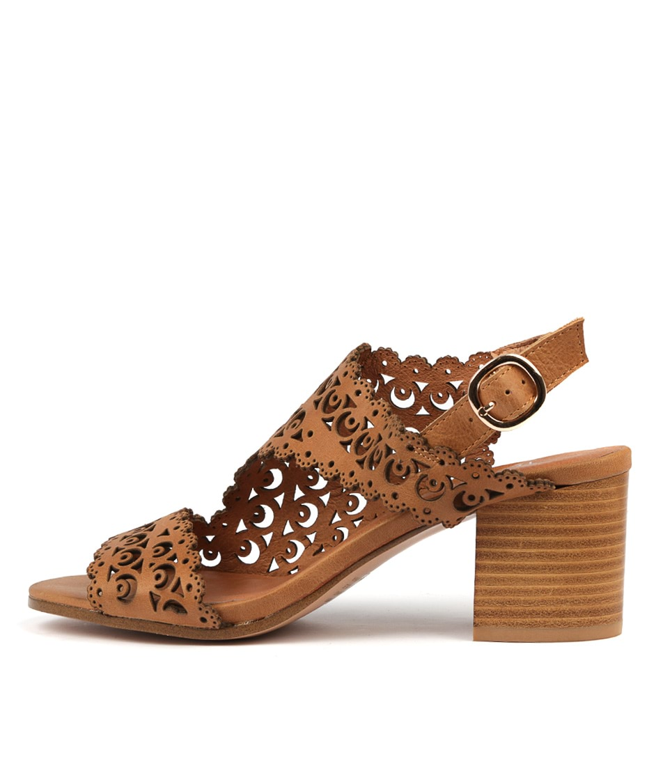 Buy Top End Rodrigo Tan Heeled Sandals online with free shipping