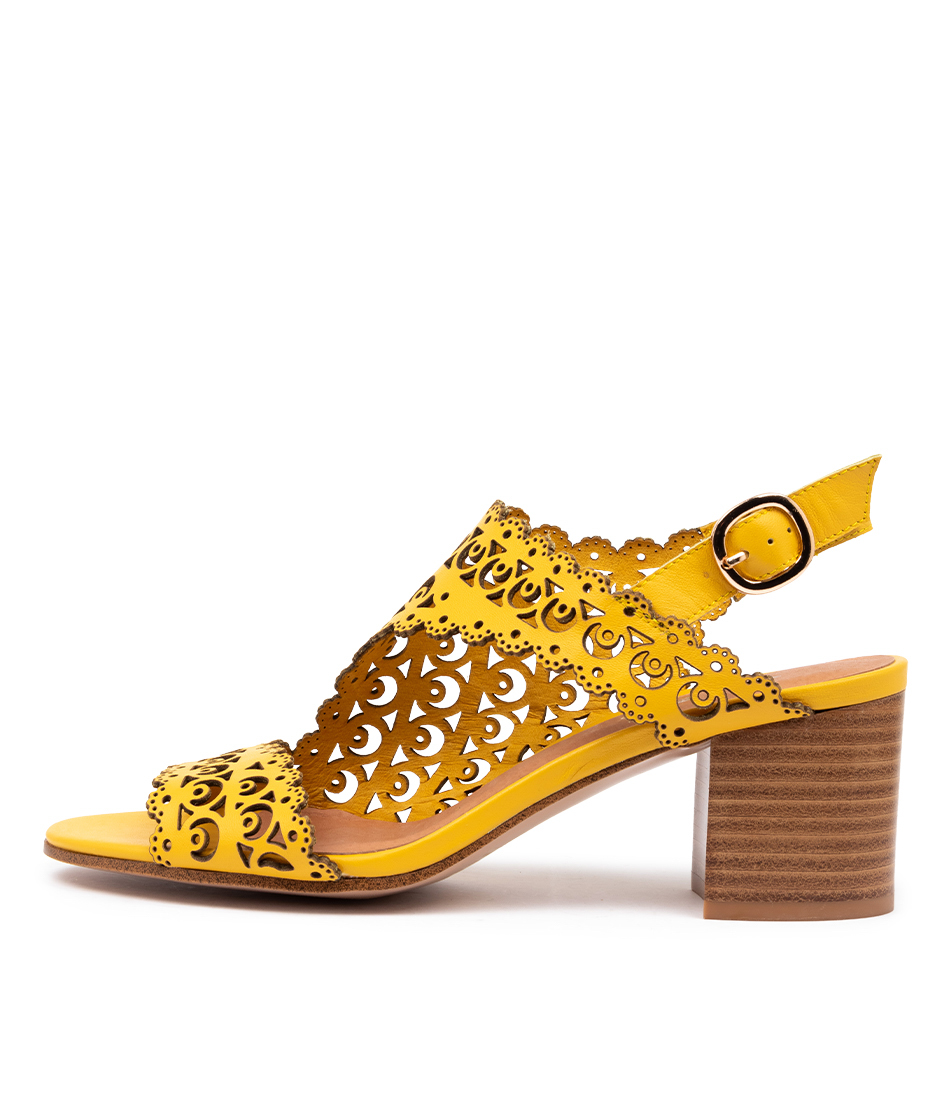 Buy Top End Rodrigo Yellow Heeled Sandals online with free shipping