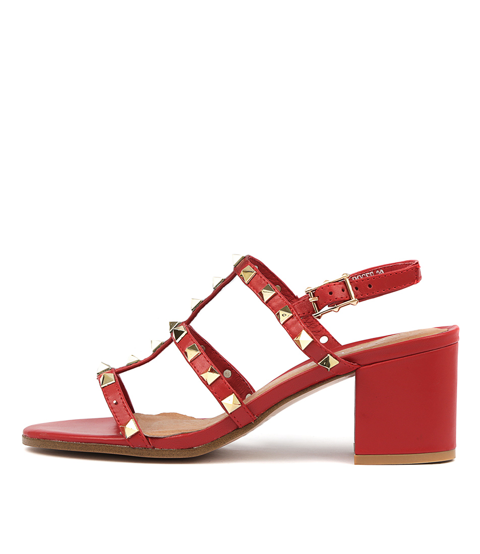 Buy Top End Roger Red Heeled Sandals online with free shipping