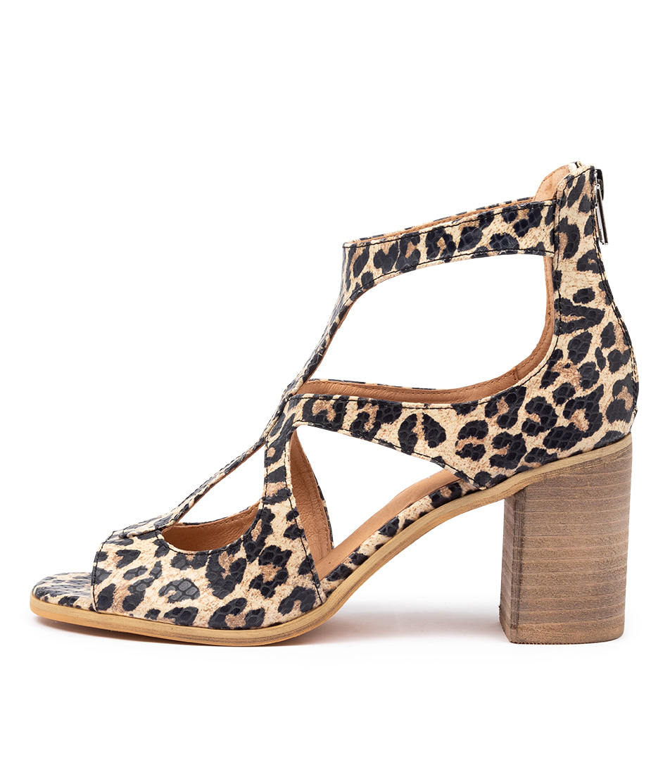 Buy Top End Winfolm Ocelot Heeled Sandals online with free shipping