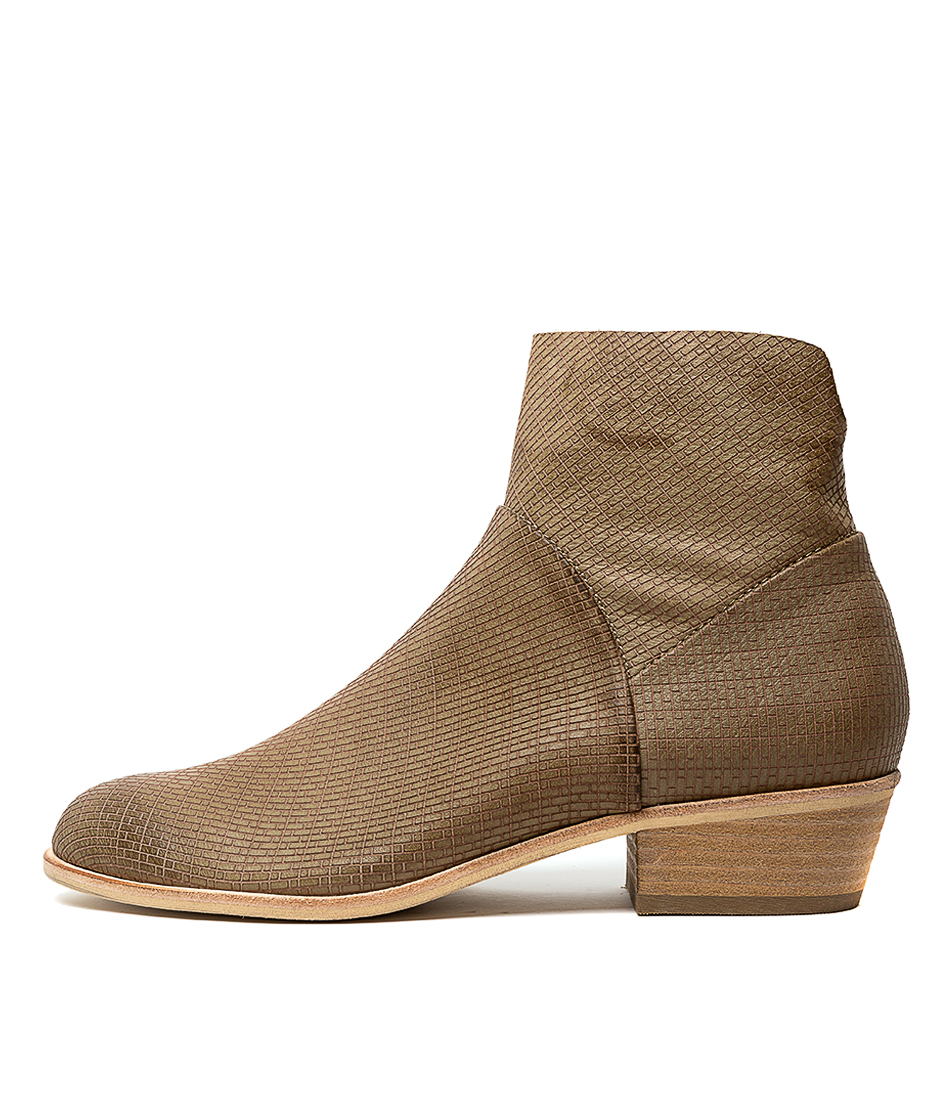 Buy Top End Alferdly Khaki Ankle Boots online with free shipping