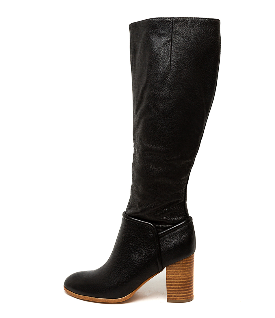 Buy Top End Alvinass Black Natural Heel Long Boots online with free shipping
