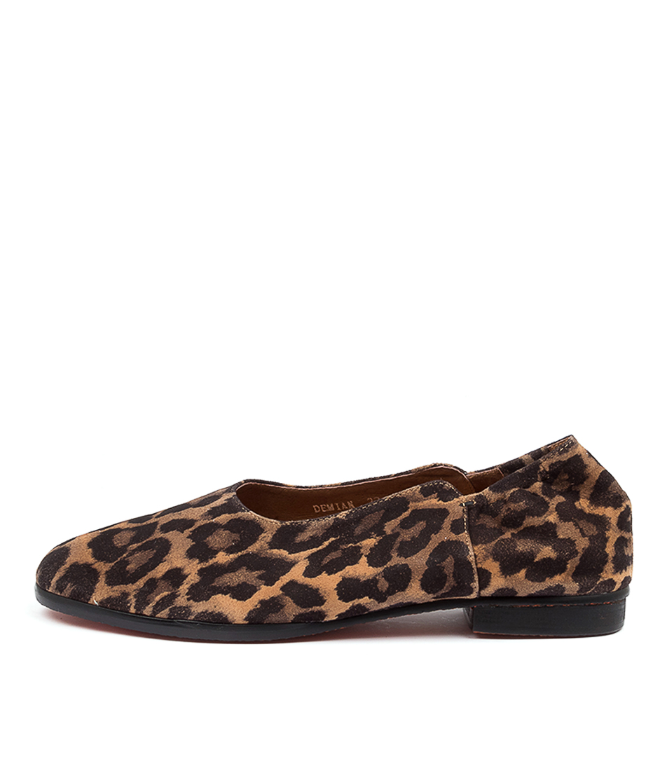 Buy Top End Demian Tan Print Flats online with free shipping