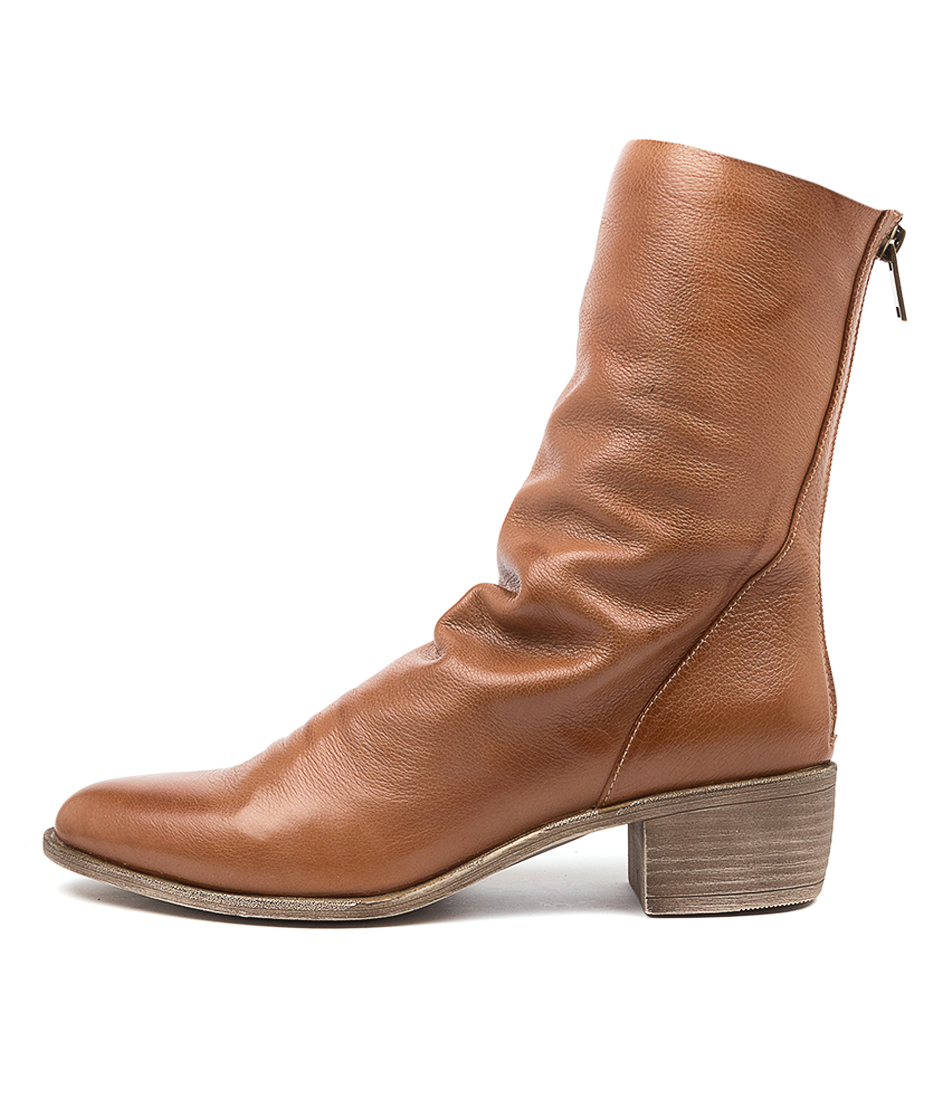 Buy Top End Joette Cognac Ankle Boots online with free shipping