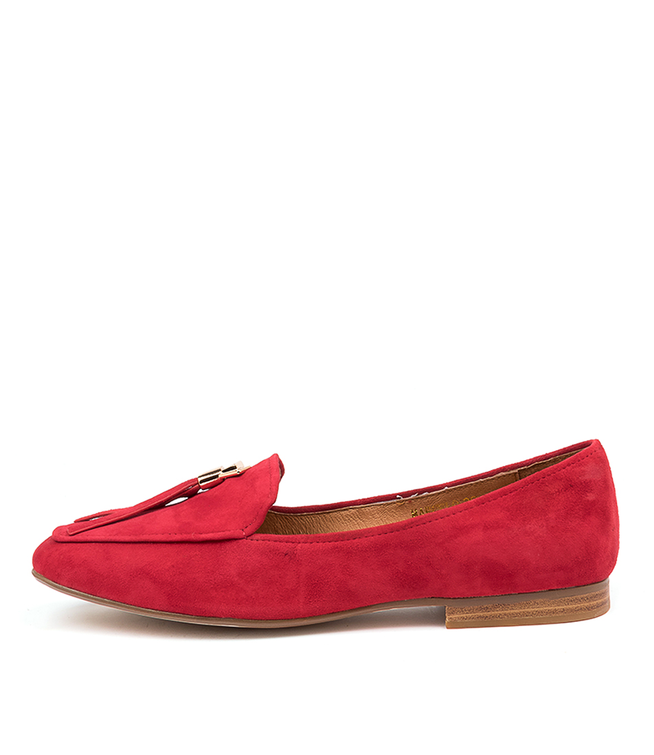 Buy Top End Marcelo Red Flats online with free shipping