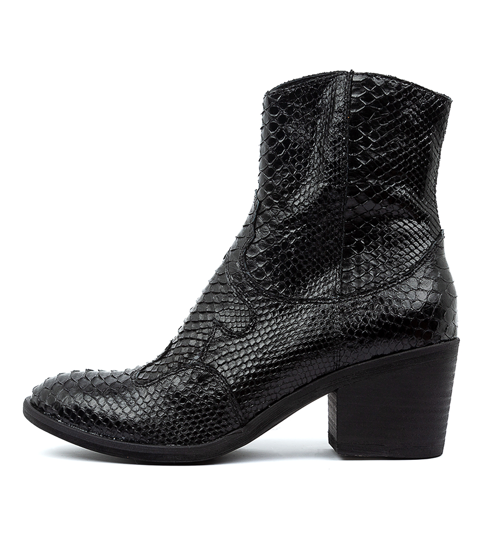 Buy Top End Mozelle Black Ankle Boots online with free shipping