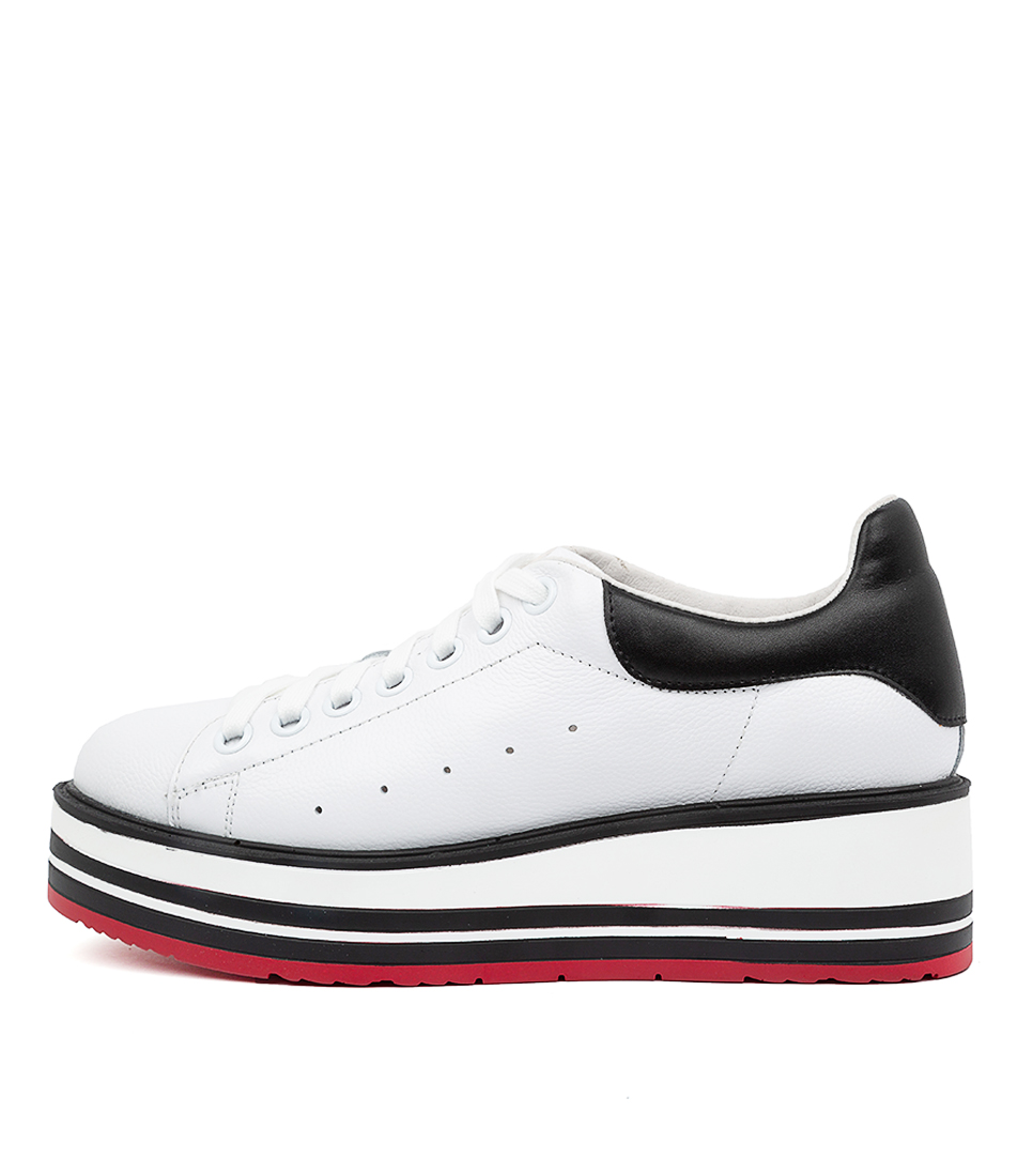 Buy Top End Siobhan White Black Sneakers online with free shipping