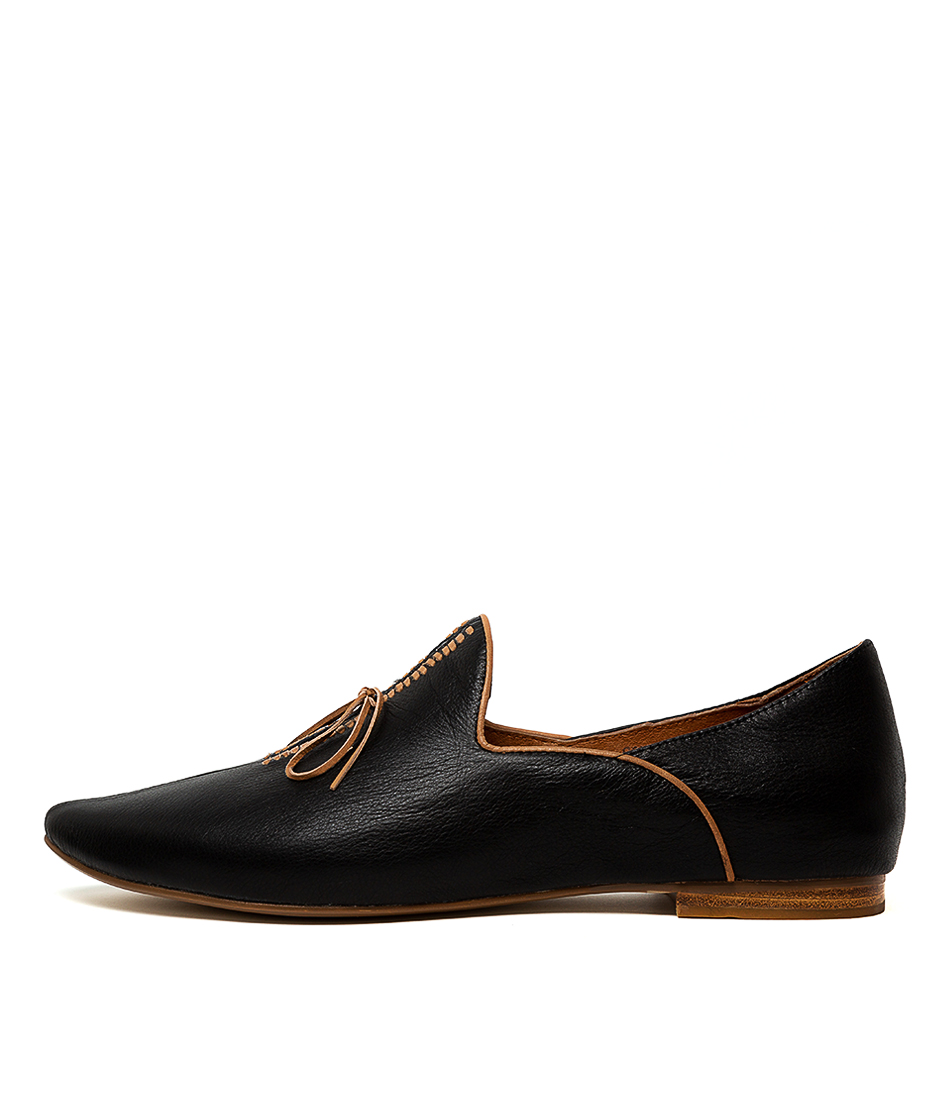 Buy Top End Sommer Black Tan Flats online with free shipping