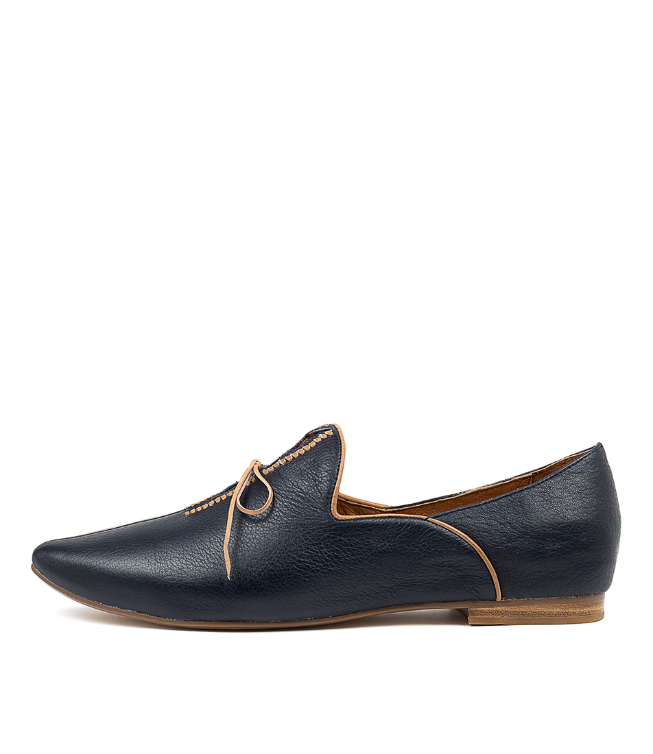 Buy Top End Sommer Navy Tan Flats online with free shipping