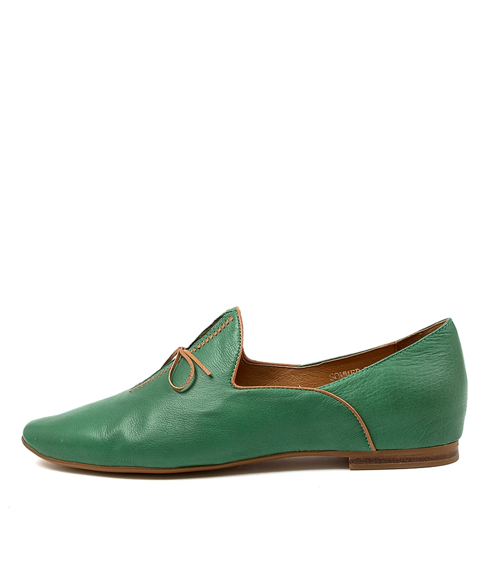 Buy Top End Sommer Emerald Tan Flats online with free shipping