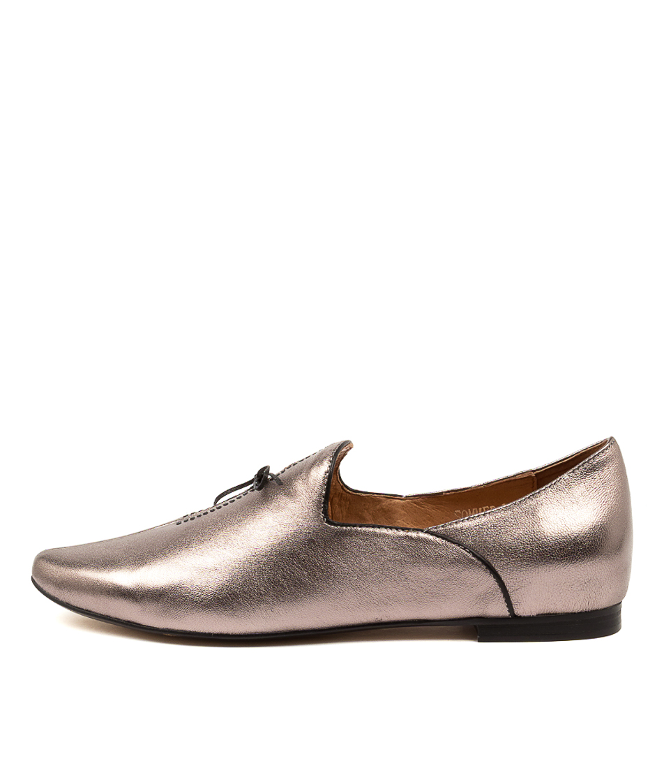 Buy Top End Sommer Pewter Black Flats online with free shipping