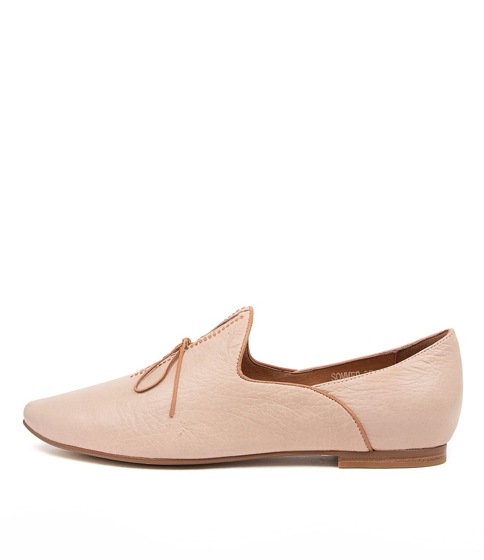 Buy Top End Sommer Nude Tan Flats online with free shipping