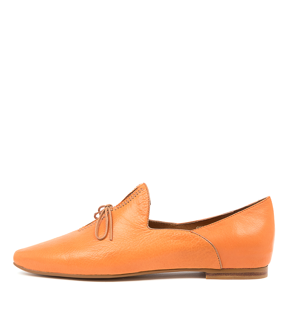 Buy Top End Sommer Bright Orange Tan Flats online with free shipping