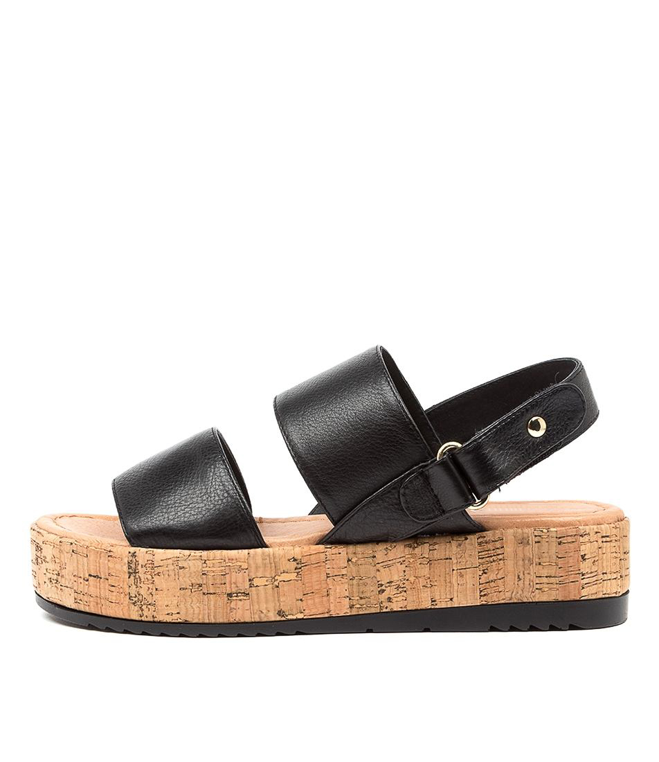Buy Top End Alecks To Black Flat Sandals online with free shipping