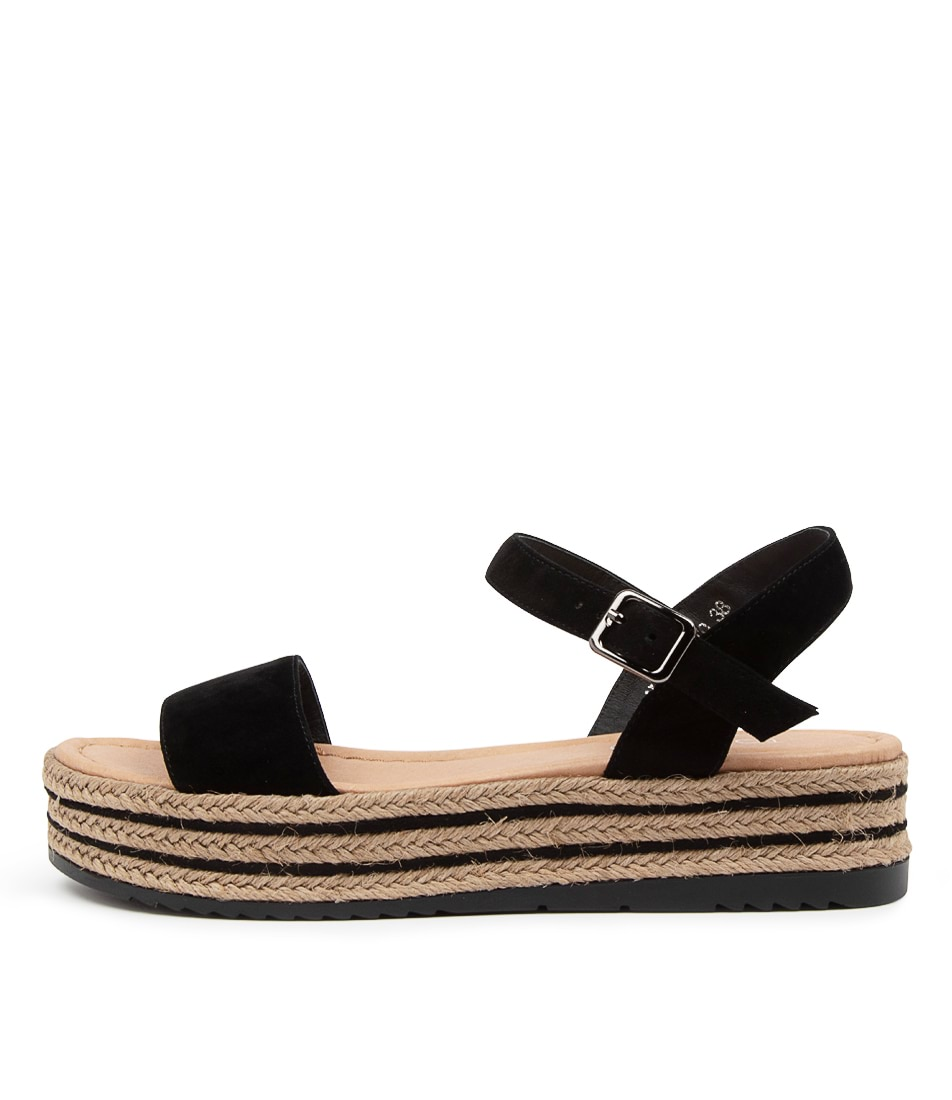 Buy Top End Alethas To Black Flat Sandals online with free shipping