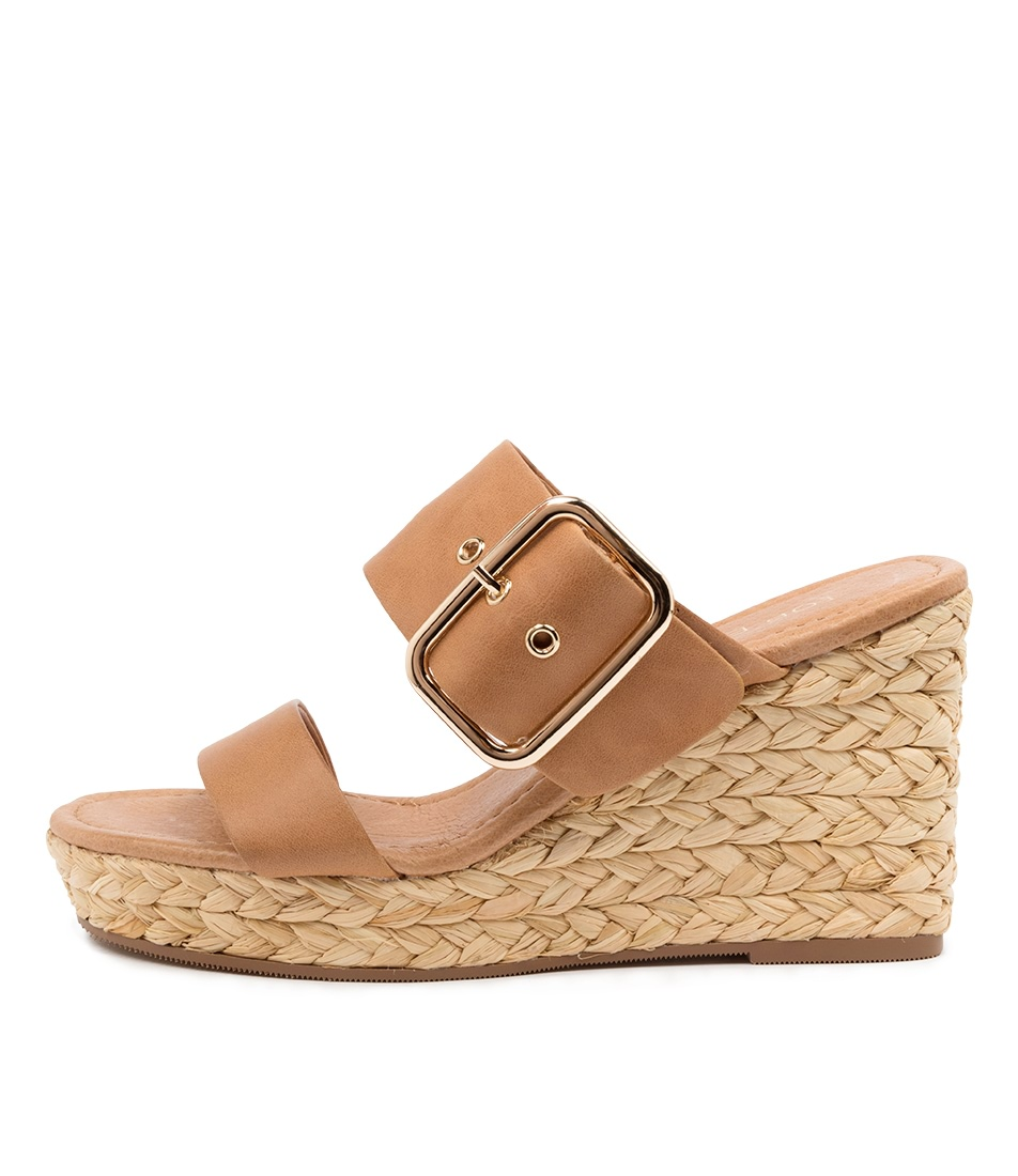 Buy Top End Angels To Tan Heeled Sandals online with free shipping