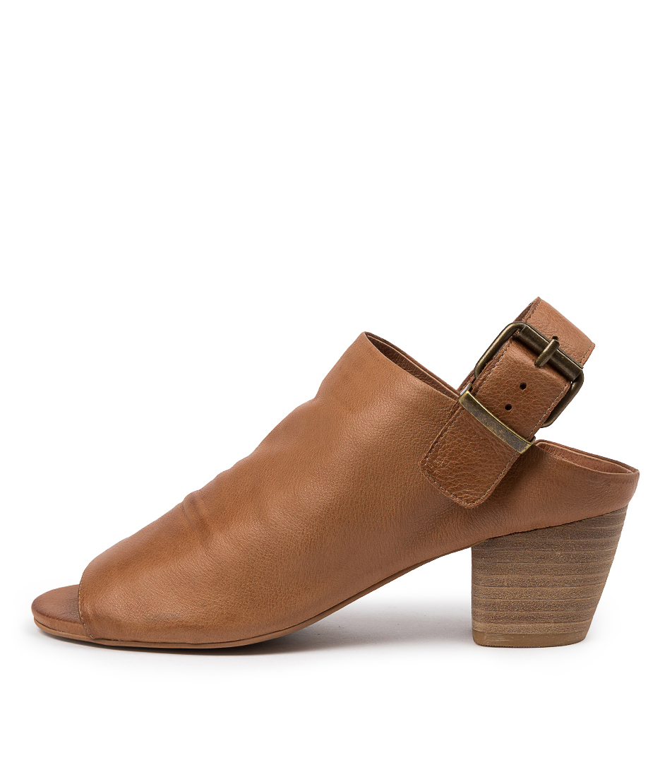 Buy Top End Bollied To Dk Tan Heeled Sandals online with free shipping