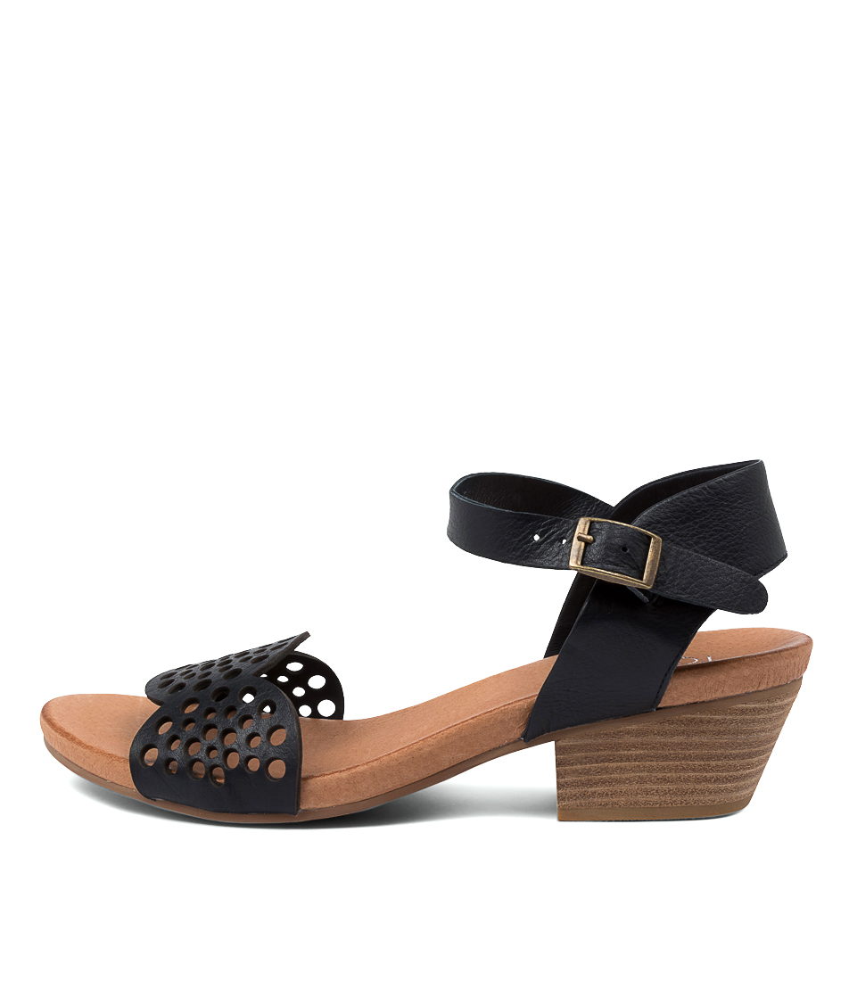 Buy Top End Cradles To Navy Heeled Sandals online with free shipping