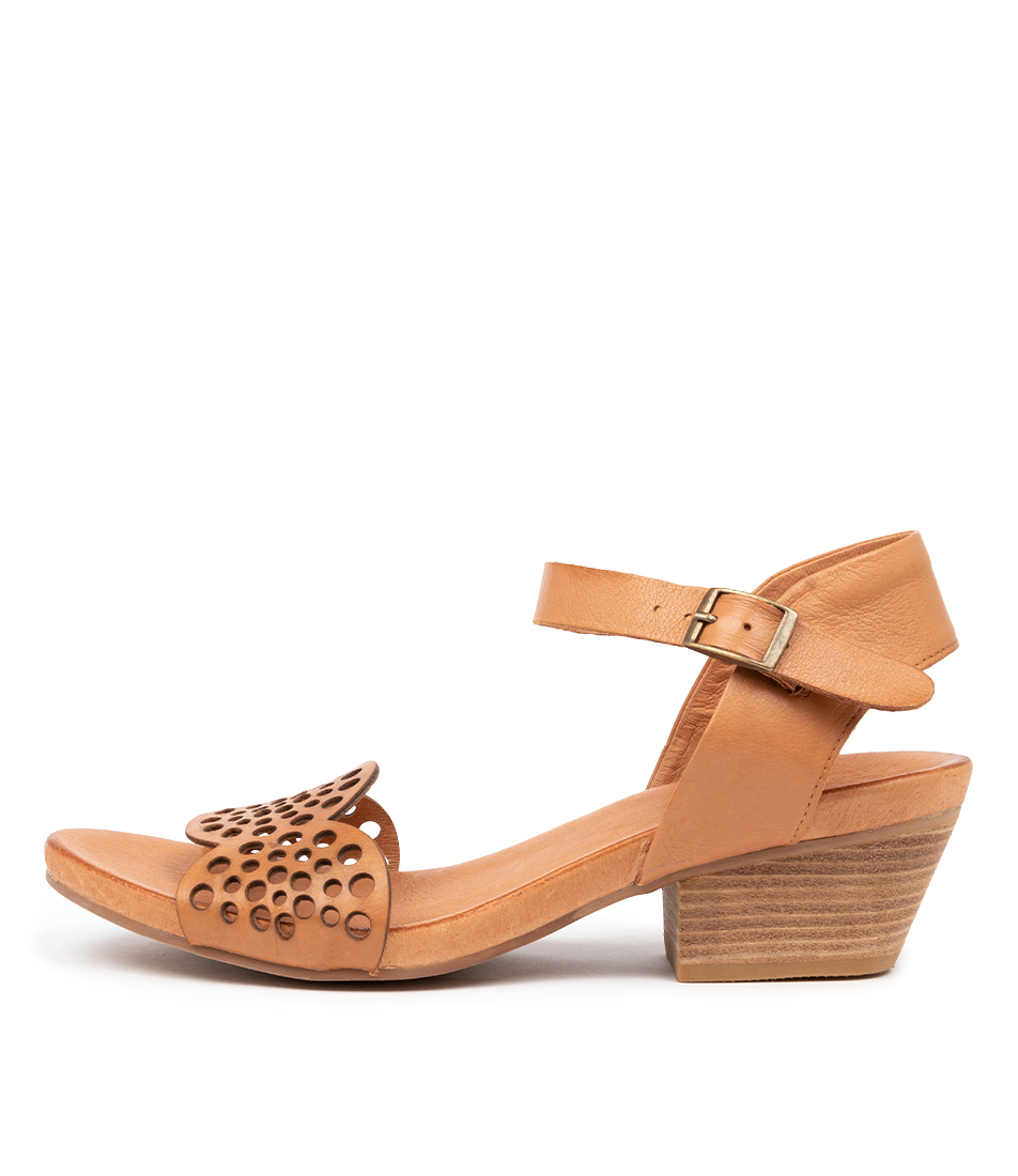 Buy Top End Cradles To Tan Heeled Sandals online with free shipping
