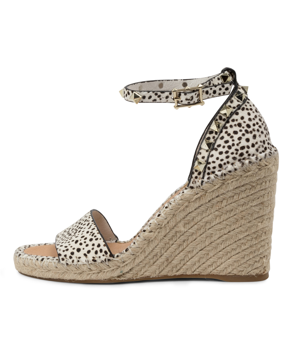 Buy Top End Edwina To Black & White Heeled Sandals online with free shipping