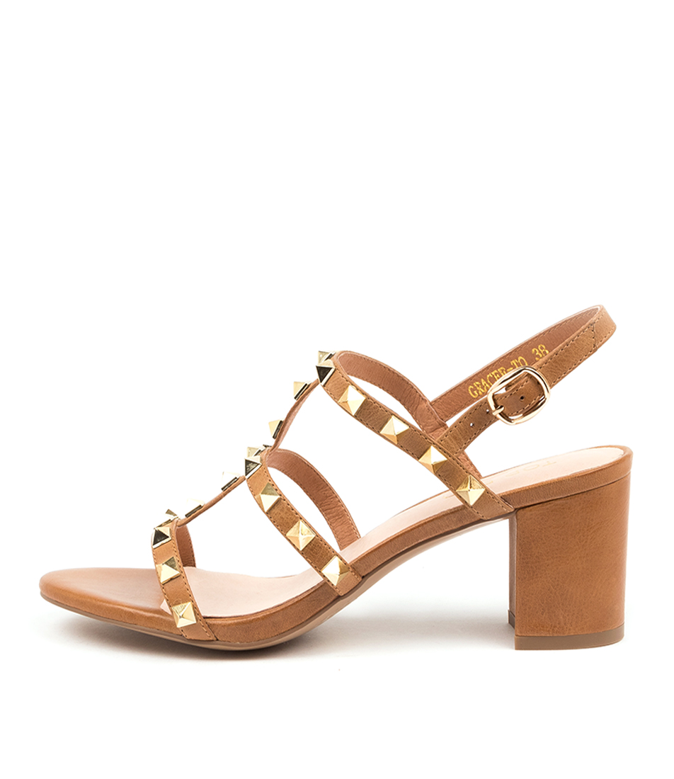 Buy Top End Gracee To Tan Heeled Sandals online with free shipping