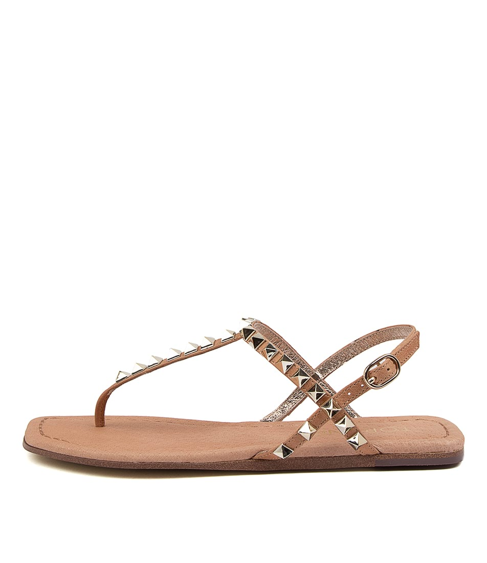Buy Top End Leafy To Tan Flat Sandals online with free shipping