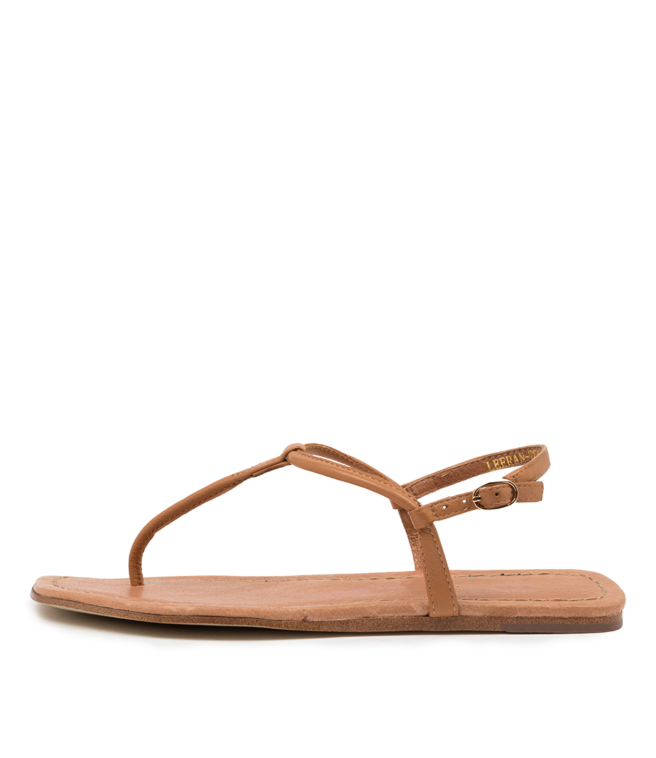 Buy Top End Leeran To Tan Flat Sandals online with free shipping