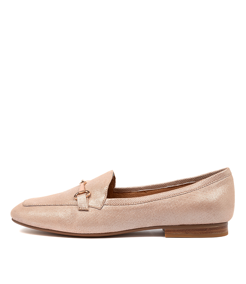 Buy Top End Mena To Nude Shine Flats online with free shipping