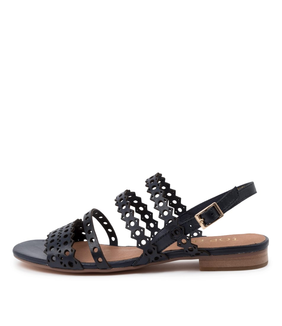 Buy Top End Private To Navy Flat Sandals online with free shipping