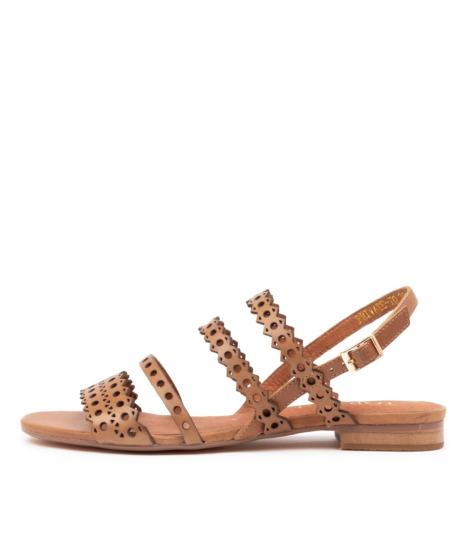 Buy Top End Private To Tan Flat Sandals online with free shipping