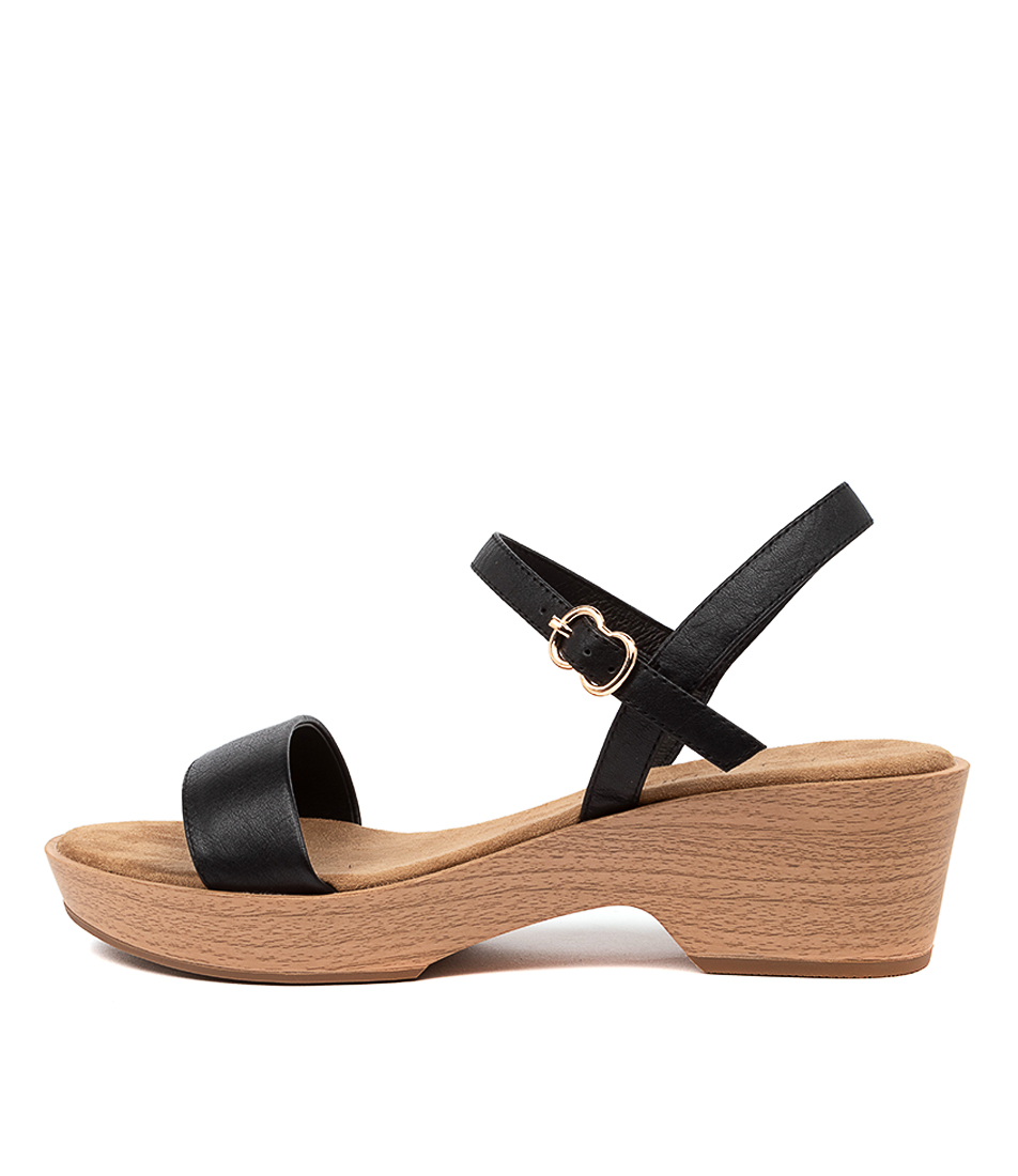 Buy Top End Ricki To Black Flat Sandals online with free shipping