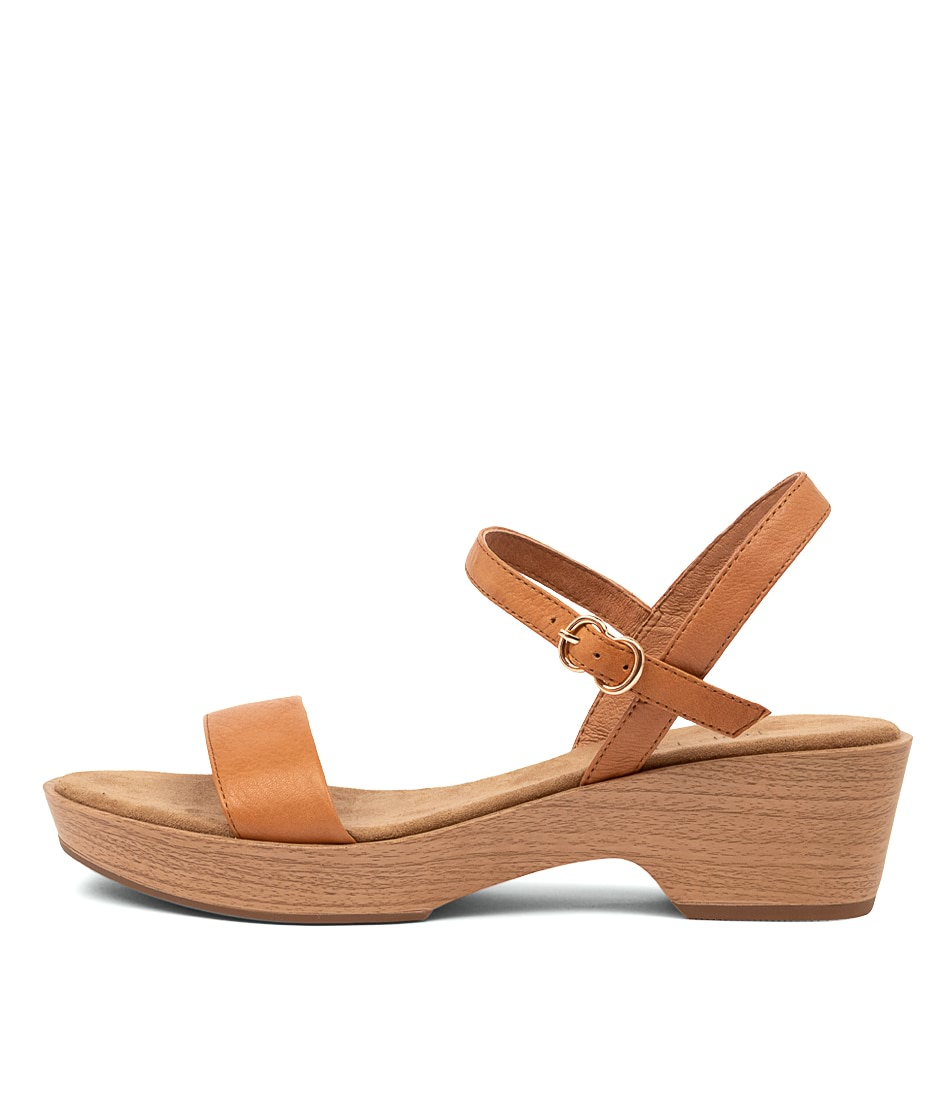 Buy Top End Ricki To Dk Tan Flat Sandals online with free shipping