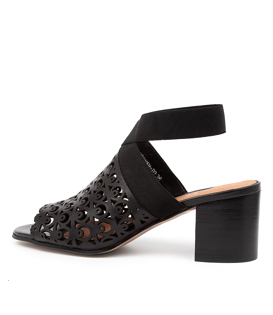 Buy Top End Robber To Black Heeled Sandals online with free shipping