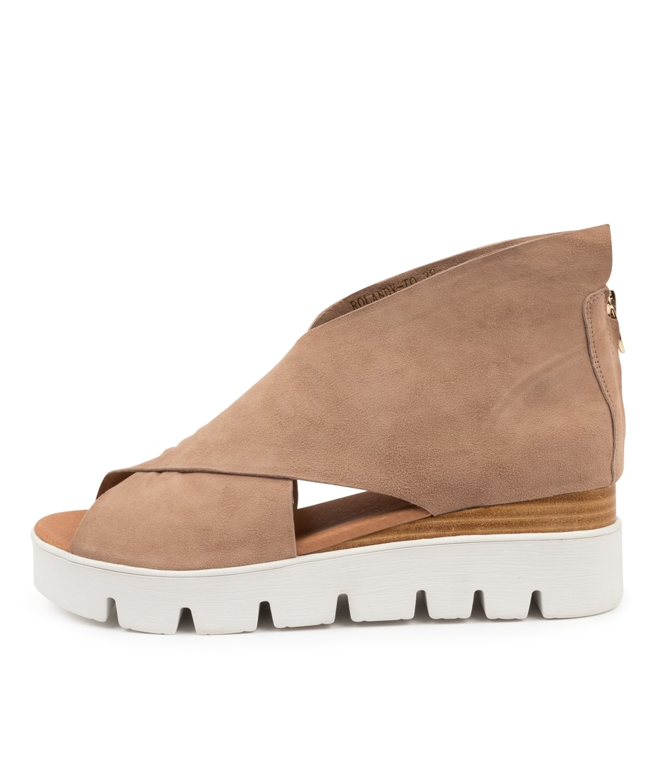 Buy Top End Rolandy To Taupe Flat Sandals online with free shipping