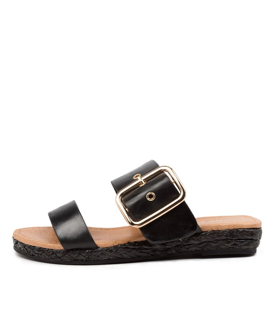 Buy Top End Rondalis To Black Flat Sandals online with free shipping
