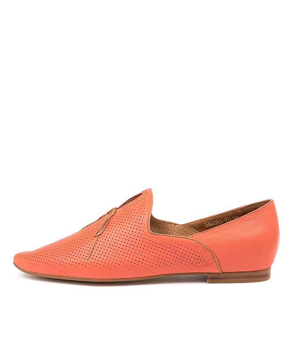 Buy Top End Sagona To Melon Dk Tan Flats online with free shipping