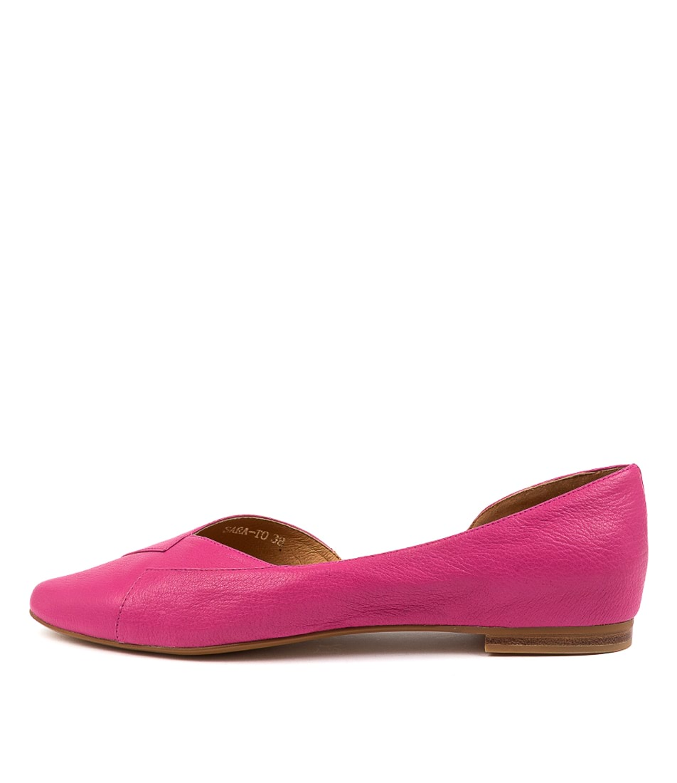 Buy Top End Sara To Fuchsia Flats online with free shipping