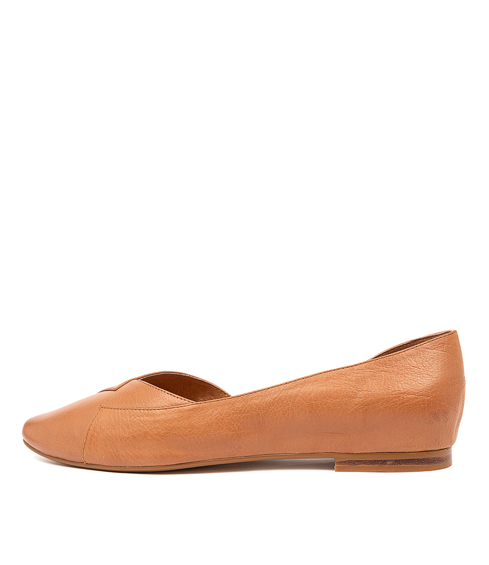 Buy Top End Sara To Dk Tan Flats online with free shipping