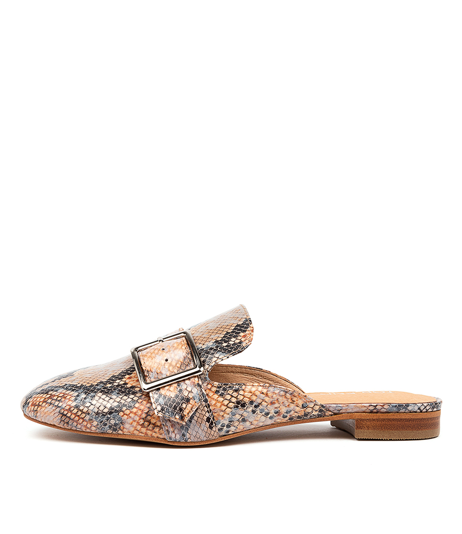 Buy Top End Sylvie To Denim & Tan Flats online with free shipping