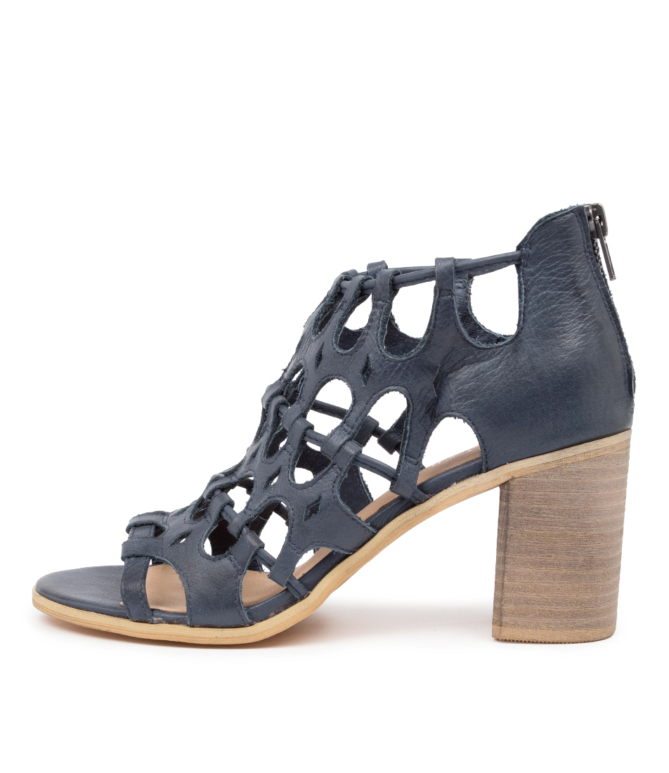 Buy Top End Wallace To Navy Heeled Sandals online with free shipping