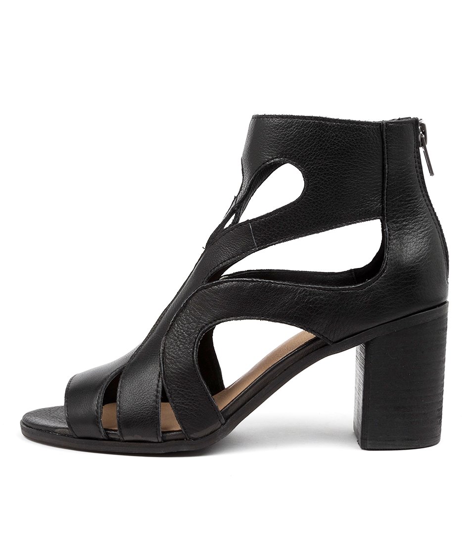 Buy Top End Willien To Black Heeled Sandals online with free shipping