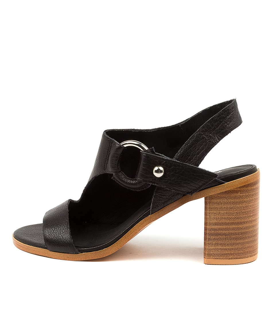 Buy Top End Witchet To Black Dk Natural Heeled Sandals online with free shipping