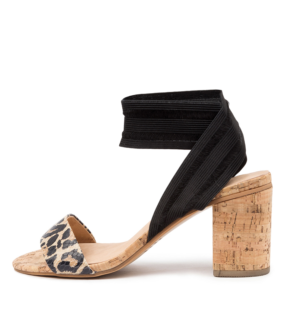 Buy Top End Woodson To Ocelot Black Heeled Sandals online with free shipping