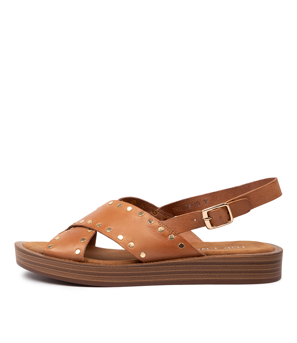 Buy Top End Frizzie To Dk Tan Flat Sandals online with free shipping